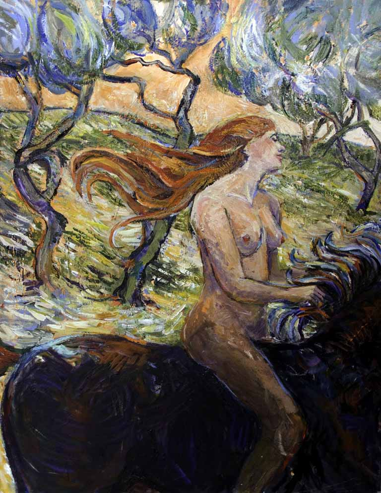 Lady Godiva rides through Van Goghs Forest